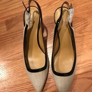 Nine West linen pump New without tags